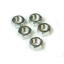 Stainless Steel 5.0mm Plain Nut – (6 pcs)