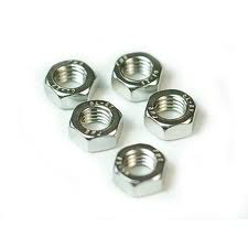 Stainless Steel 4.0mm Plain Nut – (6 pcs)