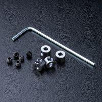 MST – Alum. stabilizer rod stopper (silver) (4)