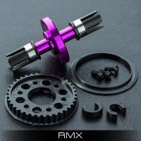 MST – RMX Alum. solid axle set (Purple)