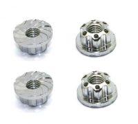 HRC – 4mm Alloy Serrated Wheel Nut – (Silver)