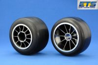 Ride F104 Pre-glued Rubber Rear 61mm Tires, XR High Grip Compound