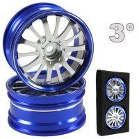 CNC Drift Alu Wheels (Blue and Silver) – 3mm Offset – 4 pcs