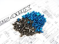 TRF419X Titanium Hex Socket Screw Set (Blue)