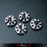 MST – Alum. damper retainer (Silver) (4 pcs)