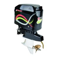 Outboard leg – Scaled with motor and black cover (No Graphics on cover)
