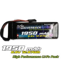 Silverback – 1950mAh 6.6v Receiver Pack – LIFE (JR plug)