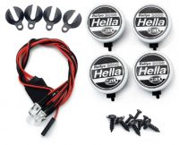 Hella – Light Kit – 1:10 – LED – JR Plug – Cover + LED – 4x White LED