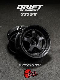 DS-Racing – Drift Element wheels – Triple Black (Changable Offset) – 2 pcs