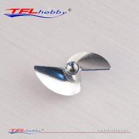 Propell – CNC 2 blads – 38-M4 m/gjenger – Aluminium (Reverse)