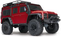 Traxxas – TRX-4 Scale & Trail Crawler Land Rover Defender ARTR (RED)