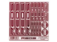 REDS – Stickers – Red Chrome/White