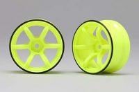 Yokomo – Racing Performer High traction wheel (off-set 6mm/Yellow)
