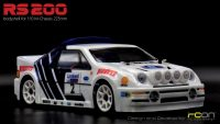 RCON – RS200 Racing Sedan Clear Body Set for M-Chassis (225mm)
