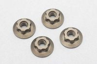 Yokomo – Aluminum Serrated Flanged Nut – 11mm (4pcs)
