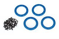 Traxxas – Beadlock Rings 1.9″ Alu Blue (4)