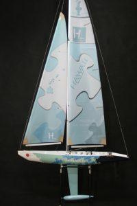 HAWAII – RTS – 1000mm w/2.4Ghz Radio (1M  Class Racing Yacht)