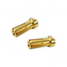SilverBack – 5.0 mm Ultra Low Resistance Male (Gold) 2pcs.