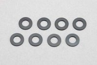 Yokomo – Aluminum Shim Black Ø3 x Ø6 x 0.5 mm (8pcs)