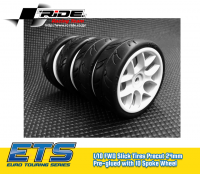 RIDE – Slick Tires (PC 24mm) Pre-glued with 10 Spoke (4pcs) FWD – ETS.