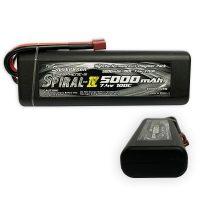 Silverback – Spiral IV – 2s 5000mAh 100C – 7.4V (Hard Tube)