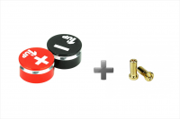 1up – Racing LowPro Bullet Plugs & Grips 5mm – Black/Red