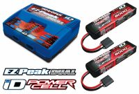 Traxxas – Charger EZ-Peak Dual 8A and 2x3S 5000mAh Battery Combo