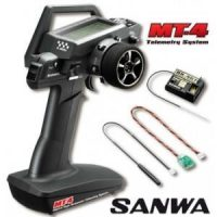 SANWA – MT-4 Telemetry System – 4 Channel – 2,4GHZ with RX-461 +2 Servos